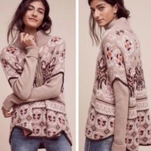 Anthropology Sleeping on Snow Cashmere Sweater